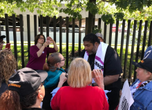 Rev. Barber Joins Didlake Protestors